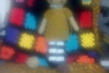 muñeca de ganchillo grande
