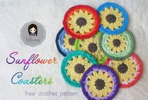 crochet cozies and coasters