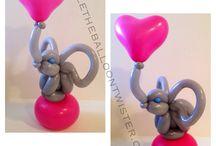 palloncini animali savana elefante