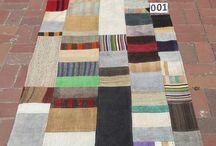 Patchwork / Kilim rug Gorgeous Patchwork in multi color tons Decorative vintage handwoven carpet