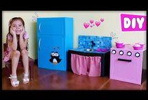 tutoriales de como hacer muebles y otros de carton para niños