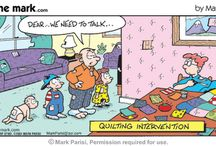 QUILTING CARTOONS / by Brenda Tennis Lewis