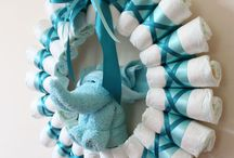 Diaper wreath