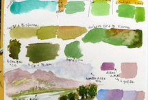 Watercolor mixing