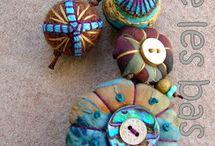 textila smycken, av tyg, papper, återbruk