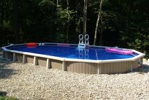 Back Yard Vacations / Relaxing semi-in ground pools turn your backyard into a vacation spot.