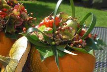 Herfstbloemstukken