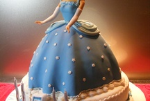 Cinderella Cake Designs / This shape cake is made by using our Dolly Varden cake tin.