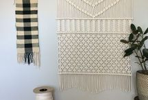 Macrame, weaving and fibre art