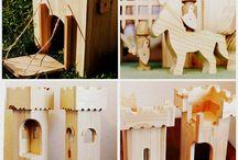 Wooden castle DIY ideas
