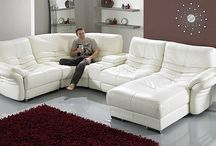 Living room / White leather