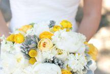 ♥ Mariage jaune ♥ / Le jaune comme couleur principale à votre mariage ? Une tendance pleine de joie et de peps !