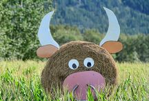 Funny Hay Bales