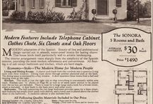 """Vintage House Plans / Old photos of early house plans and """"patterns"""""""