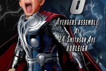 Avengers Birthday Invitation / Superhero birthday Invitation