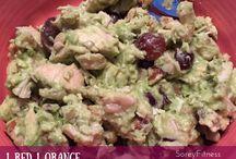 21 day fix / Chicken avocado grape salad