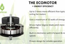 Emerson ECO Ceiling Fans / Emerson ECO fans are among the most efficient ceiling fans on the planet with an EPA efficiency as high as 359 CFM/Watt compared to about 75 CFM/Watt for the average fan. CFM/Watt is how the EPA defines ceiling fan efficiency, which is the Cubic Feet Per Minute of Airflow a fan produces for each Watt of electricity consumed. The more air you get per watt, the more efficient (and desirable) the fan is. Emerson's EcoMotor is the first to feature this cutting edge DC motor technology.