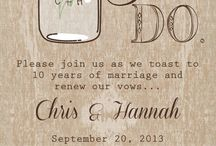 Vow renewal / After 10 years we will recommit ourselves to each other and vow to continue to honor God in our marriage
