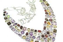 Designer Silver Necklace / Here We Are Showing Some Great Designer Gemstone Sterling Silver Necklace Handmade By Indian Artisan