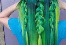 my pretty little green hair