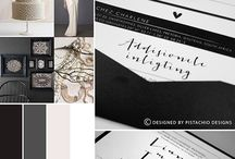 Invitations - Black, White, Navy & Grey / Black, White, Navy & Grey wedding invitations