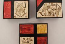 πινακας με αναγλυφα τετραγωνα