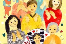 絵本「祝福の本」 / ●出産祝いの絵本「祝福の本」のためのイラスト。(透明水彩、Photoshop ) ●作画はイラストレーターの鈴木匠子さん。 http://www.kinende.com/shopdetail/028000000001/