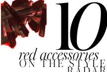10 HOT RED ACCESSORIES