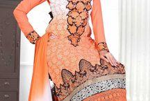 Embroidered Slawar Kameez / Embroidered Churidar Salwar Suit
