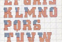 USA punto croce