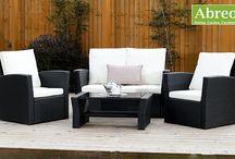 Black Rattan Garden Furniture Sets / Abreos collection of black rattan garden furniture.