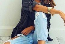 potargane jeansy