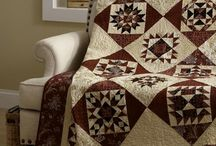 Quilts - Burgundy and Cream