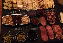 Charcuterie board / Entertaining cheese and meat platter