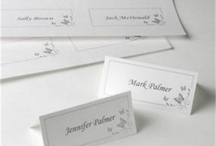 Printable Place Cards / Printable place cards sheets for printing your own wedding place cards from your computer at home.