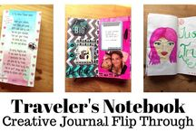 Travelers Notebook Layouts / Inspiration for my Traveler's Notebook and my Bullet Journal...