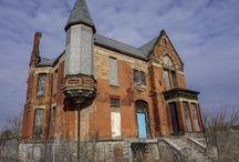 Detroit / Vieilles maisons abandonnées à Detroit - Michigan