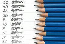 matite e attrezzi