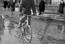 Vintage pictures / Vintage pictures of cyclists. Stockholm, Sweden