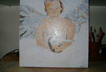 mijn schilderijen / ik schilder graag en ik zet hier mijn schilderijen neer