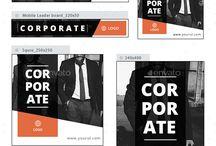 Company branding banners