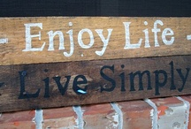 here's your sign / I love old rustic, paint chipped signs / by Carol Boyd
