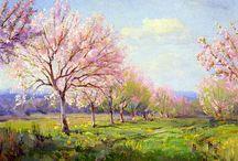 Robert Julian Onderdonk – Ölfarben auf Leinwand / Der Frühling ist unterwegs und bald werden die Bäume in #zauberhafter Obstblüte sein. Genießen Sie die empfindliche Schönheit des Frühlings, #Natur meisterhaft vermittelt von Robert Onderdonk und seinem #Impressionismus