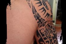 "Polynesian Tattoo / ""Since there was not writing in the Polynesian culture, the symbols were used to express the personality. It actually defines the hierarchy in the society like sexual maturity, geneealogy and other ranking"" https://www.tahititatou.com/history.html"