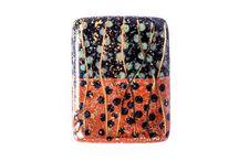 Hand-Painted Porcelain Klimt Inspired Art Nouveau Beads / Hand-painted porcelain art nouveau beads inspired by Klimt