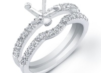 Engagement Ring Settings / With a semi set ring, you can choose a band and then separately choose the perfect loose cut diamond to complement it perfectly.
