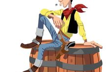 Lucky Luke 70 aniversary - Elektra Saloon / A collection of franes extracted from the illustration about the Lucky Luke anyversary