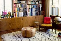 Heffe House: Shelf Styling Ideas / This is a board where I'm collecting shots of styled bookshelves, inspiration for styling the Heffe House Living Room shelves...