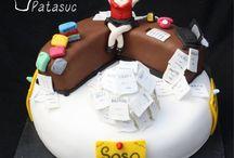 Receptionist/secretary cake
