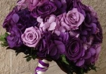 purple and silver wedding
